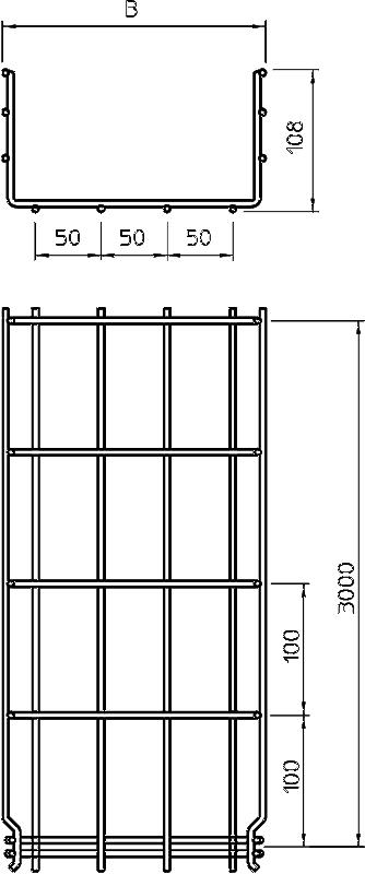 Схема Проволочный лоток GR-Magic° 105 — арт.: 6002451