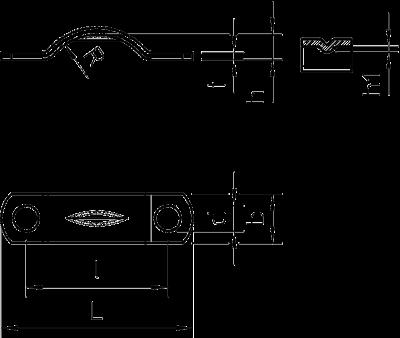 Схема Скоба для разгрузки от натяжения — арт.: 1437003