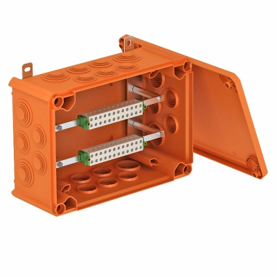 Огнестойкая распределительная коробка FireBox T-350 ED для телекоммуникационного кабеля, с наружным креплением — арт.: 7205590