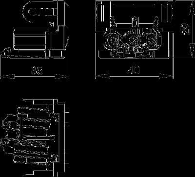 Схема Штекерный соединительный адаптер, U-образный — арт.: 6117196