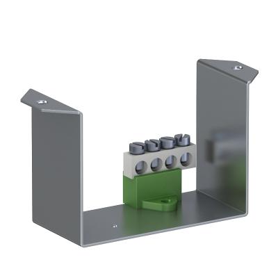 Суппорт с клеммной колодкой PE для монтажа защитного устройства в блоках питания VHF — арт.: 6109852
