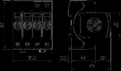 Схема Комбинированный разрядник V50 3-полюсный + NPE, 320 В — арт.: 5093554