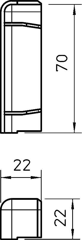 Схема Торцевая заглушка правая — арт.: 6199262