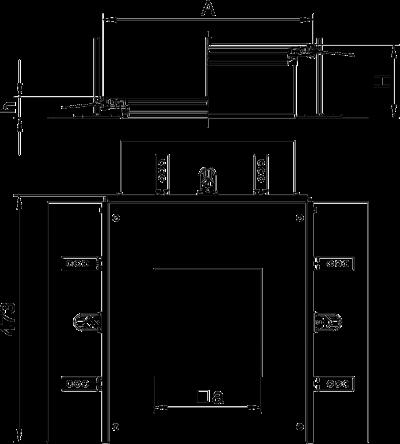Схема Монтажная секция с крышкой для лючка GES4, высота 40 — 240 мм — арт.: 7424340