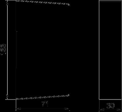Схема Стыковая накладка для кабельного короба высотой 70 мм — арт.: 6279764
