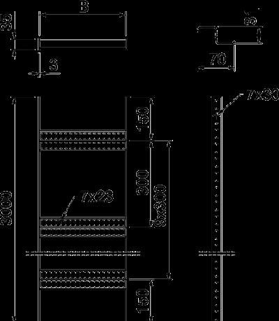 Схема Кабельный лоток лестничного типа с Z-образными перекладинами, стандартный — арт.: 7098032