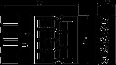 Схема Гнездовой адаптер 5-полюсный, с винтовым соединением — арт.: 6108072