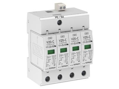 Разрядник для защиты от перенапряжений 4-полюсный, с дистанционной сигнализацией — арт.: 5094734