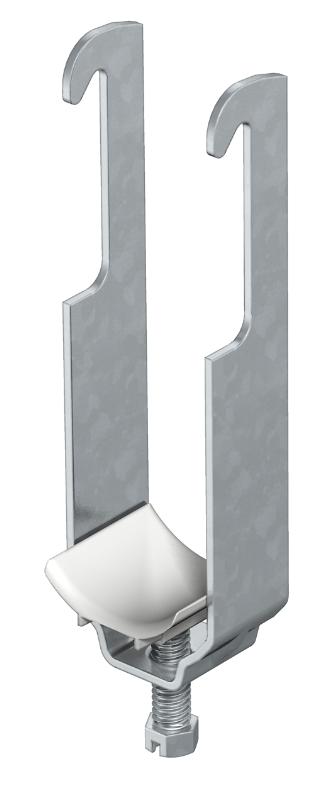 Зажимная скоба 2-секционная, с пластиковой прижимной пластиной — арт.: 1181122