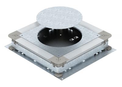 Монтажное основание UZD250-3 с отверстиями для круглого лючка, для стяжки высотой 70 — 125 мм — арт.: 7410091