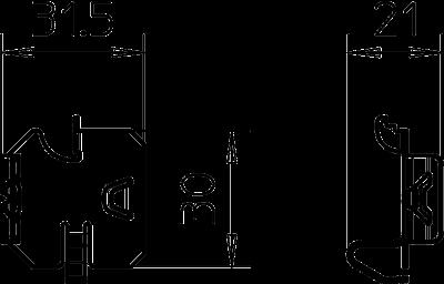 Схема Фиксатор для крепления разделительной полочки — арт.: 6062280
