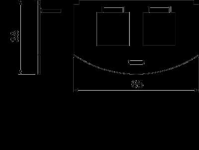 Схема Суппорт для 2х телекоммуникационных модулей типа F — арт.: 7408808