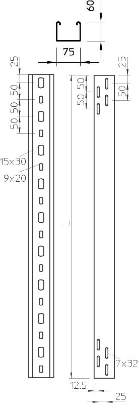 Схема Кабельный лоток для монтажа светильников — арт.: 6055810