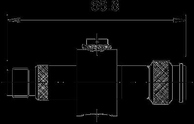 Схема Коаксиальное устройство защиты для разъема TNC: штекер/розетка — арт.: 5093270