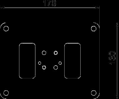 Схема Напольная пластина для электромонтажной колонны ISS70110 — арт.: 6290100