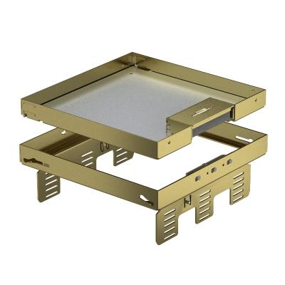Регулируемая кассетная рамка RKSNUZD3 с кабельным выводом, из латуни — арт.: 7409232