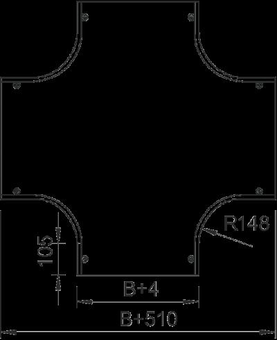 Схема Крышка крестообразной секции 400-600 мм — арт.: 7128673