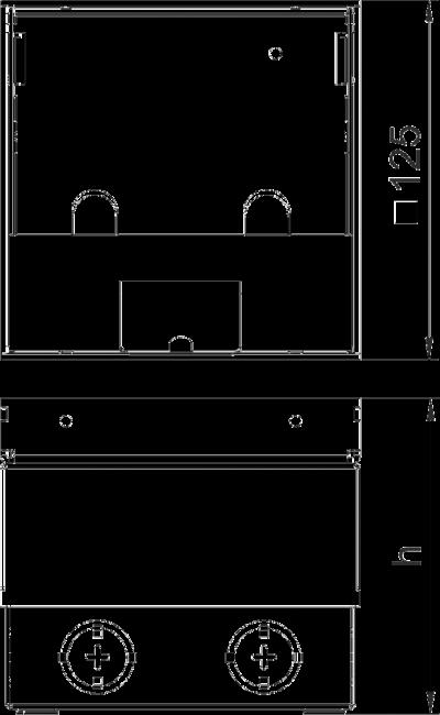Схема Лючок UDHome2 с выемкой для напольного покрытия в крышке из нержавеющей стали, укомплектованная — арт.: 7368399