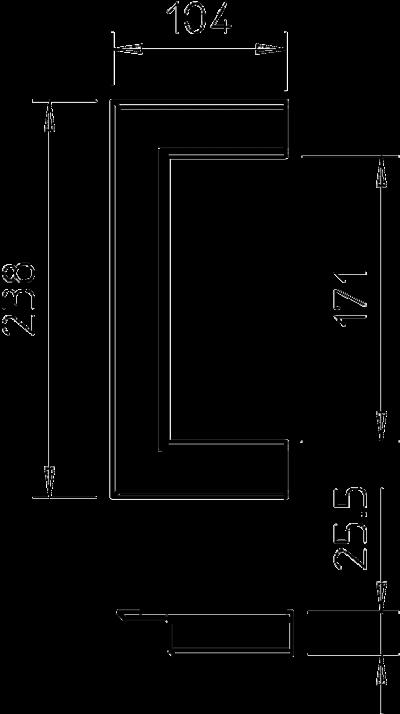Схема Настенная торцевая заглушка из ПВХ, открытая, для кабельных коробов 70170 — арт.: 6274830