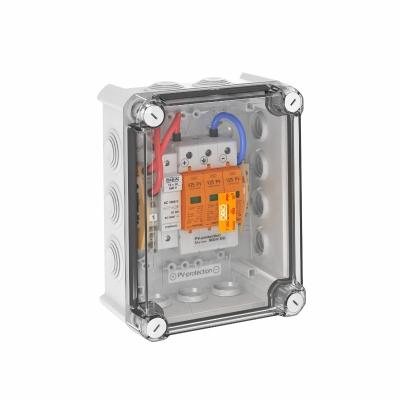 Системное решение для защиты преобразователей фотогальванических установок, в корпусе, с разрядниками типа 2, с 1 треккером MPP, 900 В постоянного ток — арт.: 5088580