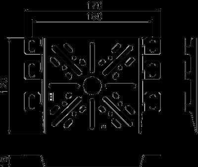 Схема Монтажная/крепежная пластина — арт.: 7084773
