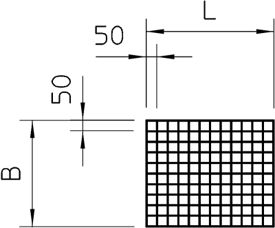 Схема Стальная проволочная решетка — арт.: 7202963