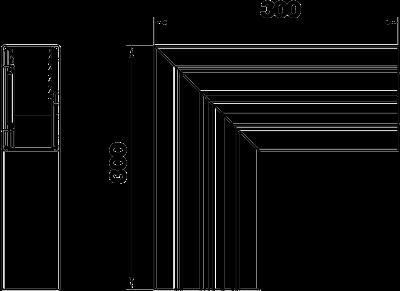 Схема Плоский угол для кабельного короба высотой 70 мм — арт.: 6279323