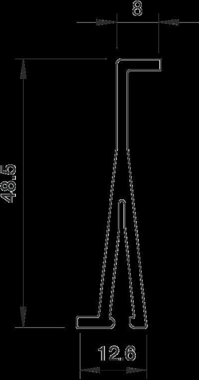 Схема Разделительная перегородка для кабельных коробов высотой 60 мм — арт.: 6023118