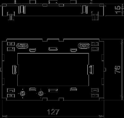 Схема Монтажная рамка двойная Modul 45® — арт.: 6288576