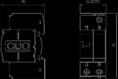 Схема Разрядник для защиты от перенапряжений 1-полюсный + NPE — арт.: 5093418