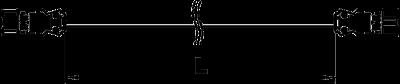 Схема Соединительный кабель 3-жильный, ПВХ, с поперечным сечением 1,5 мм², черный — арт.: 6108100