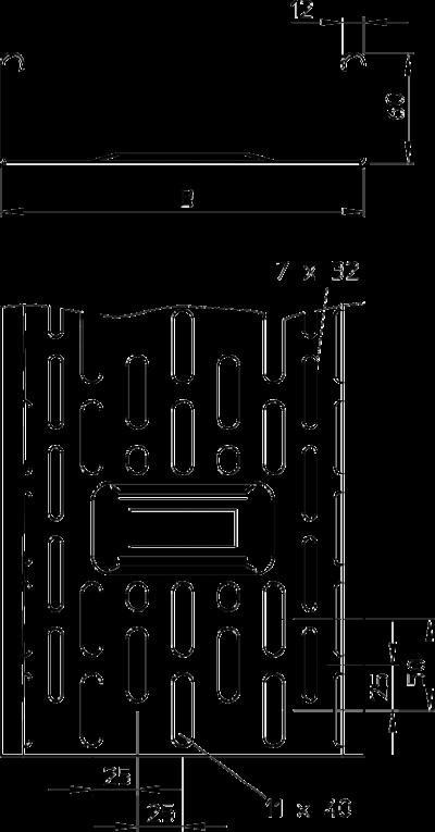 Схема Листовой кабельный лоток DKS — арт.: 6085668