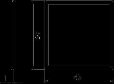 Схема Адаптер для установки переключателей под углом 90° — арт.: 6258141