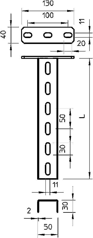 Схема Подвесная стойка US 3 — арт.: 6342351