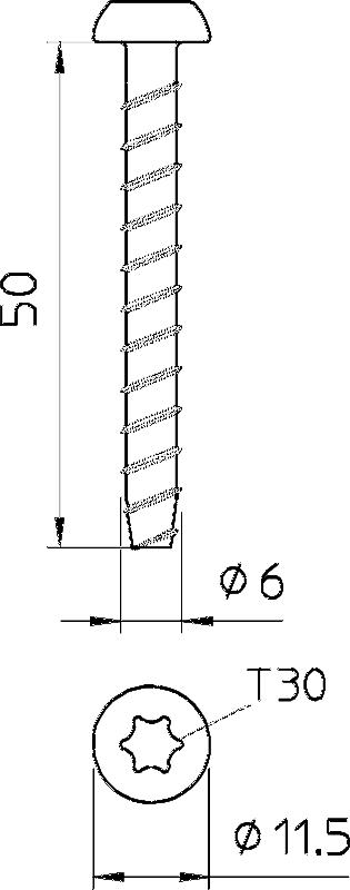 Схема Огнестойкий винтовой анкер — арт.: 3498107