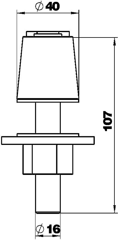 Схема Крепежная опора из нержавеющей стали для настольных боксов DB — арт.: 6116982