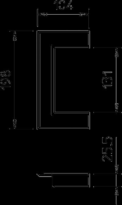 Схема Настенная торцевая заглушка из ПВХ, открытая, для кабельных коробов 70130 — арт.: 6274820