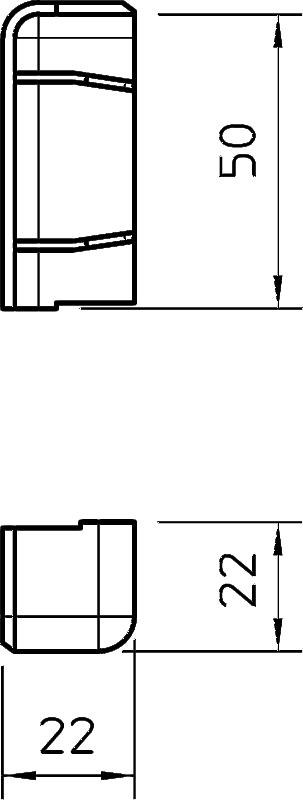 Схема Торцевая заглушка правая — арт.: 6199163