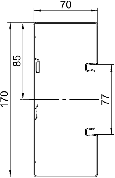 Схема Стальной кабельный короб Rapid 80 высотой 70 мм — арт.: 6277600
