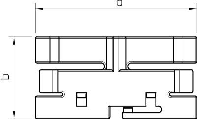 Схема Фиксатор крышки для кабельного короба шириной 60 мм — арт.: 6176122