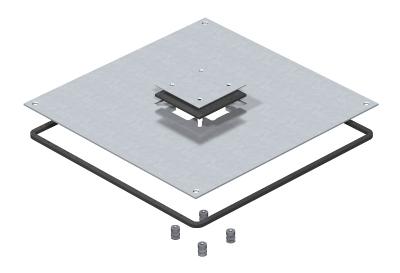 Крышка монтажного основания 350-3 с отверстием для напольного бокса Telitank — арт.: 7400431