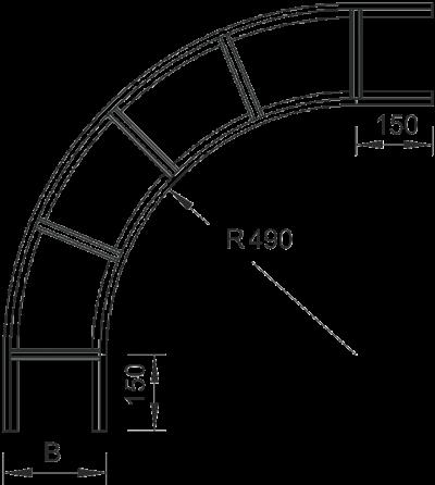 Схема Угловая секция 90° — арт.: 7160046