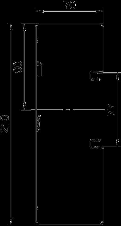 Схема Стальной кабельный короб Rapid 80 высотой 70 мм — арт.: 6278000