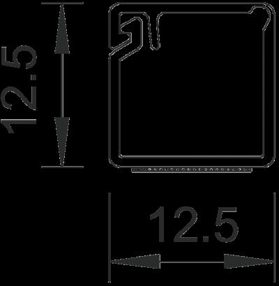 Схема Мини-канал на клейкой основе с шарнирной крышкой MD12 — арт.: 6150284