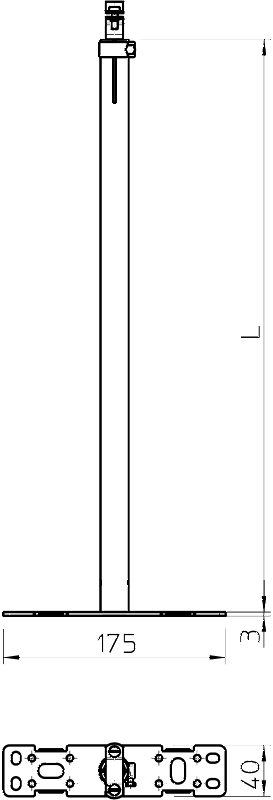 Схема Регулируемая изоляционная траверса для крепления к стене — арт.: 5408852