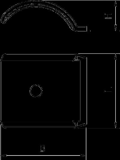 Схема Прижимная пластина металлическая, универсальная — арт.: 1199854