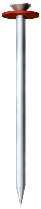 Стальной гвоздь Impu, оцинкованный, с шайбой из вулканизированной фибры — арт.: 3361128