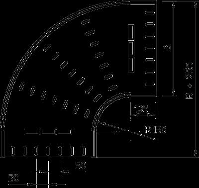 Схема Угловая секция 90° 400-900 мм — арт.: 7001290