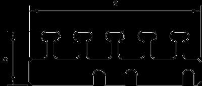 Схема Кабельный держатель для короба шириной 100 мм — арт.: 6249922