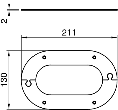Схема Потолочная накладка для электромонтажной колонны ISSOG70140 — арт.: 6290260